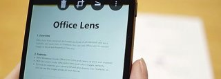 Scan documents from Android with Office Lens header
