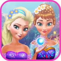 Elsa & Anna Makeover android app icon
