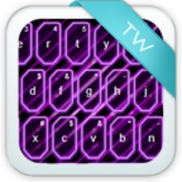 GO Keyboard Themes Purple Neon