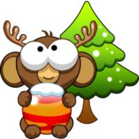 Xmas Bubble Monkey android app icon