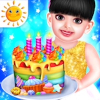 Baby Aadhya Birthday Cake Maker Cooking Game android app icon