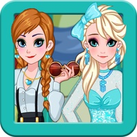 Dress up Elsa and Anna game android app icon