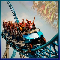 Roller coaster ride USA android app icon