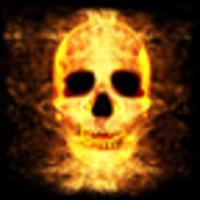 Burning Fire Skull Head android app icon
