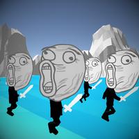Stickman Meme Warrior Rage Simulator android app icon