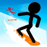 Stickman Snow Ride android app icon