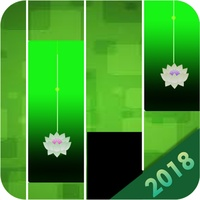 Green flower piano tile android app icon
