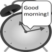 Speaking alarm clock