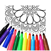 Mandala Coloring Pages android app icon