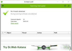 Dr Web CureIt screenshot 4