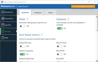 Malwarebytes AdwCleaner screenshot 2