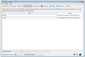 QT SperoCoin screenshot 5