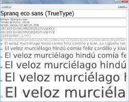 EcoFont screenshot 2