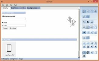 Birdfont screenshot 9