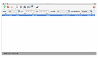 Express Invoice Free Invoicing software for Mac screenshot 4