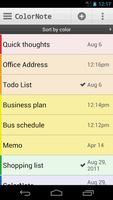 ColorNote Notepad screenshot 2
