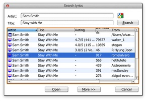 MiniLyrics screenshot 3