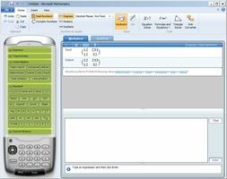 Microsoft Mathematics screenshot 2