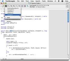 TextWrangler screenshot 4