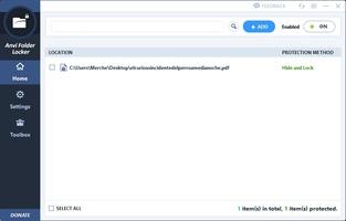Anvi Folder Locker screenshot 2