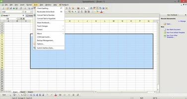 Kingsoft Spreadsheets Free 2012 screenshot 2