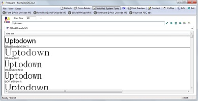 FontViewOK screenshot 3