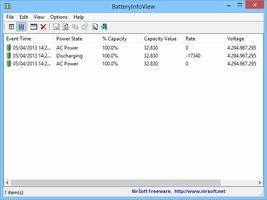 BatteryInfoView screenshot 2