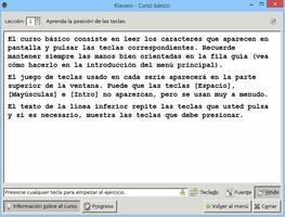 Klavaro Touch Typing Tutor screenshot 3