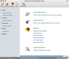Express Invoice Free Invoicing software for Mac screenshot 2