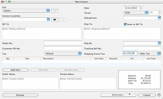 Express Invoice Free Invoicing software for Mac screenshot 6
