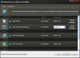 Nokia PC Suite screenshot 2