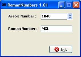 RomanNumbers screenshot 2