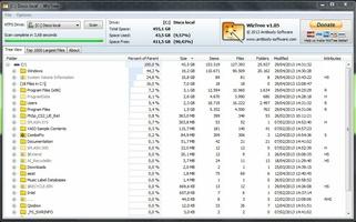 WizTree screenshot 2