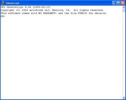 Ghostscript screenshot 2