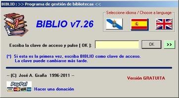 Biblio screenshot 2