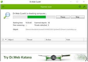Dr Web CureIt screenshot 5