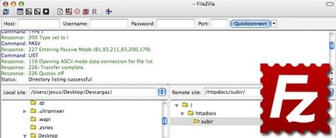 FileZilla screenshot 5