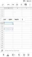 Google Sheets screenshot 5