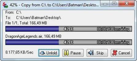 Ultracopier screenshot 5
