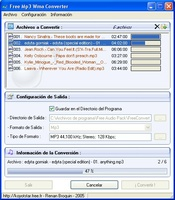 Free Mp3 Wma Converter screenshot 2