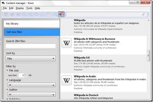 Kiwix screenshot 2