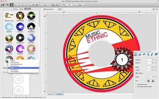 Mac CD/DVD Label Maker screenshot 2