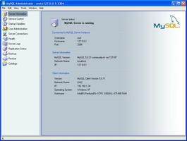 MySQL Administrator screenshot 2