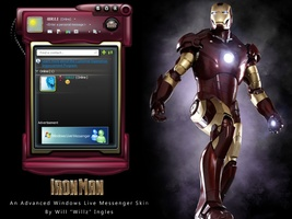 Iron Man Windows Live Messenger Skin screenshot 2