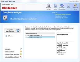 HDCleaner screenshot 2