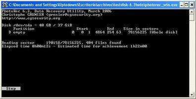 TestDisk And PhotoRec screenshot 2