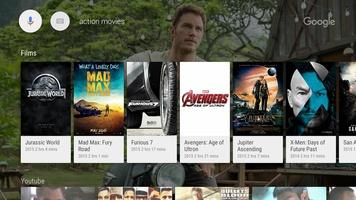 Google app for Android TV screenshot 2