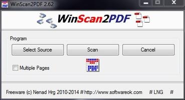 WinScan2PDF screenshot 2