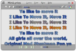 MiniLyrics screenshot 2