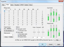 AC3Filter screenshot 3